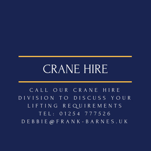 Crane Hire North West England for heavy lifting